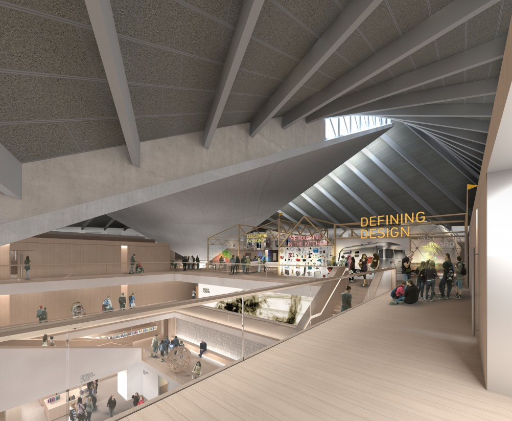 Visualisation of the new Design Museum interiors. © Alex Morris.