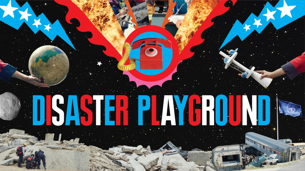 Disaster Playground screen graphics by The Machine