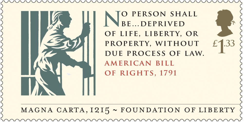 Magna Carta - American Bill of Rights 1791 Stamp 400