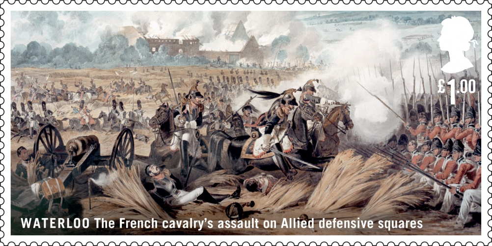 Waterloo French Cavalry's stamp
