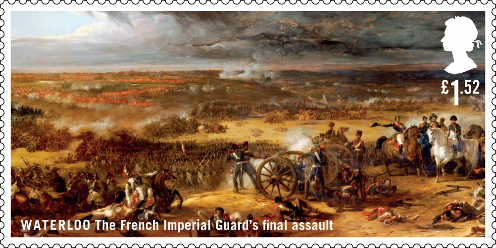 Waterloo French Imperial Guard stamp