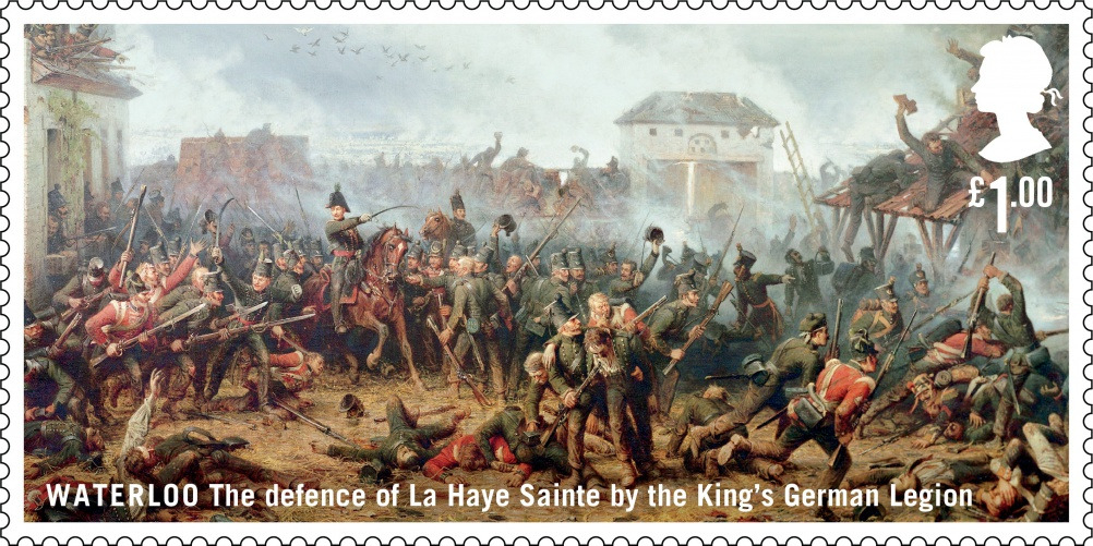 Waterloo King's German Legion stamp