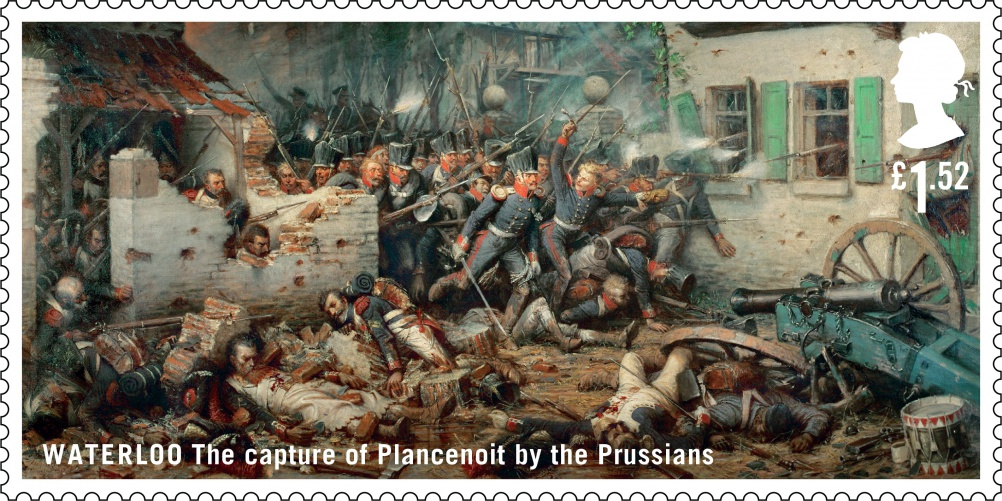 Waterloo Prussions stamp