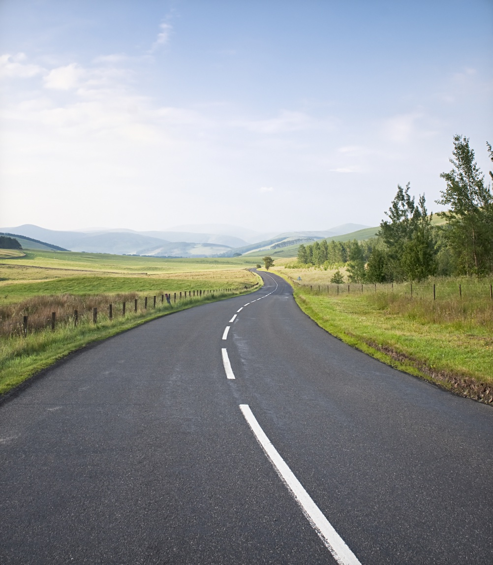 Winding Scottish Road