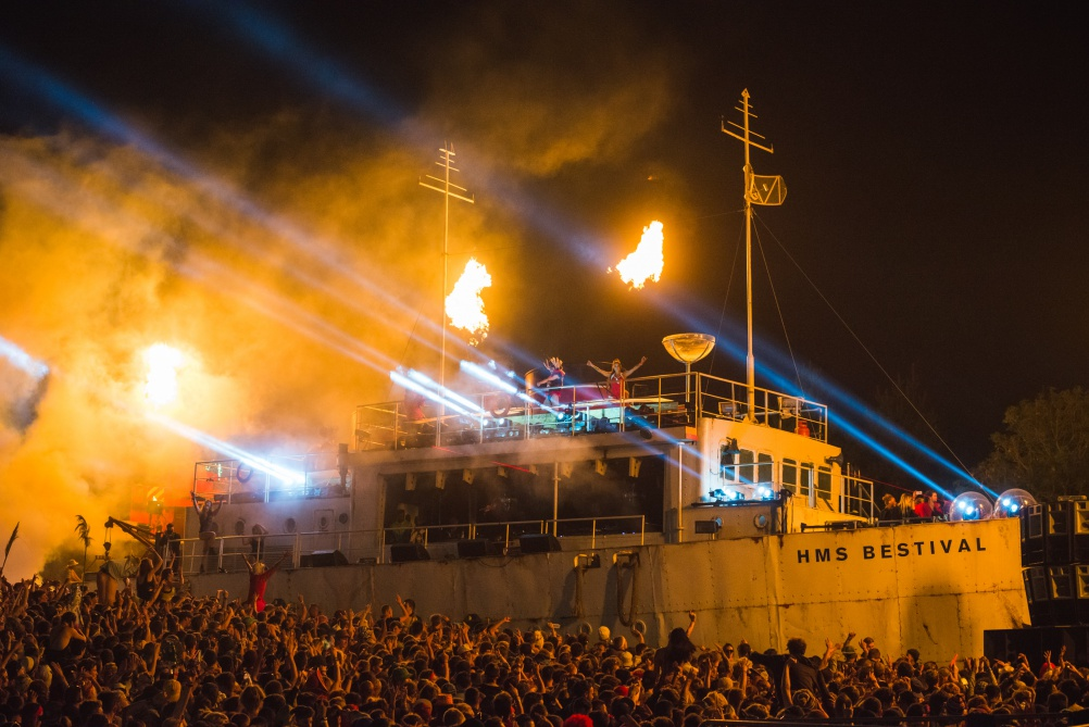 Chase and Status performing a DJ set aboard the HMS Bestival. © Carolina Faruolo.