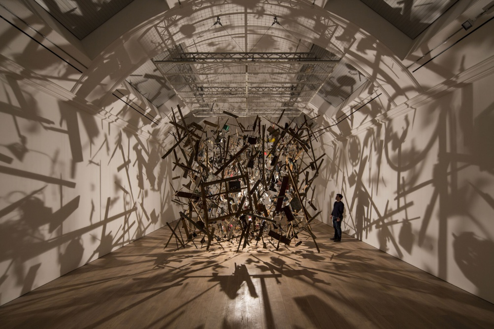 Cornelia Parkers Cold Dark Matter at The Whitworth. Photographer: David Levene