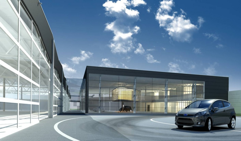 Ford Starts Û11.6 Million Expansion of its Cologne Merkenich Design Centre (Computer Generated Image: Architekturvisualisierung - HHVISION) (4/5/2011)