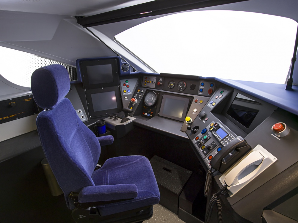Mockup of driver's cab