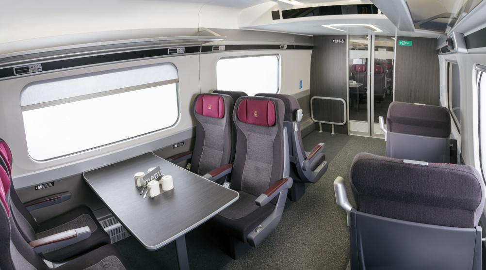 Mockup of First Class interiors