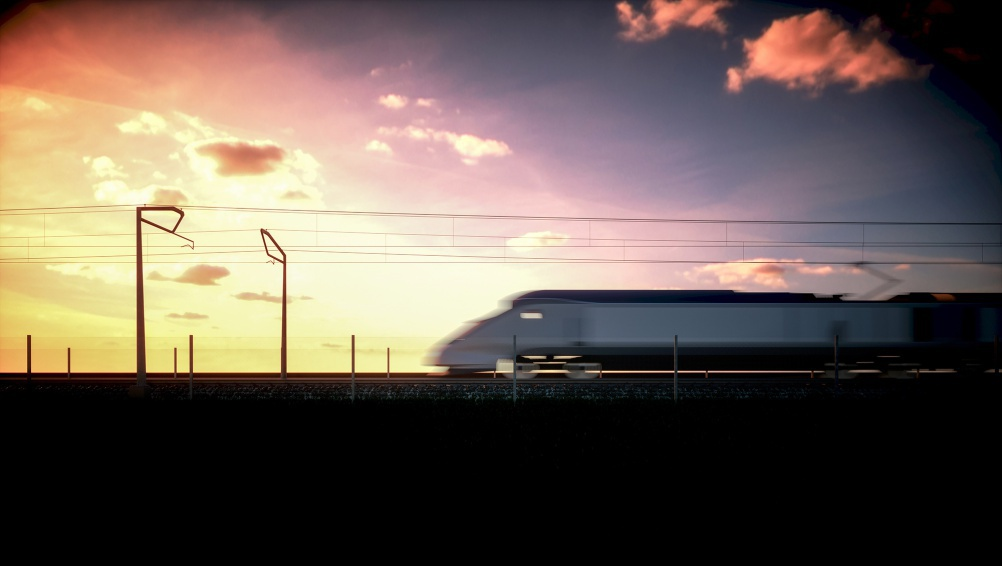 Proposal for HS2 overhead line structures, by Moxon Architects with Mott MacDonald