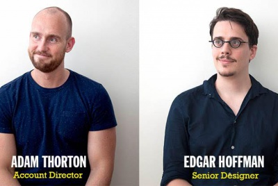 Adam Thornton, account director and Edgar Hoffmann, senior designer, SMACK