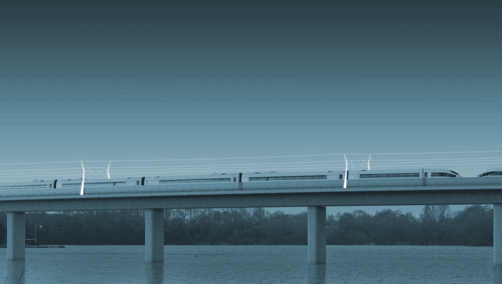 Proposal for HS2 overhead line structures, by Ramboll UK
