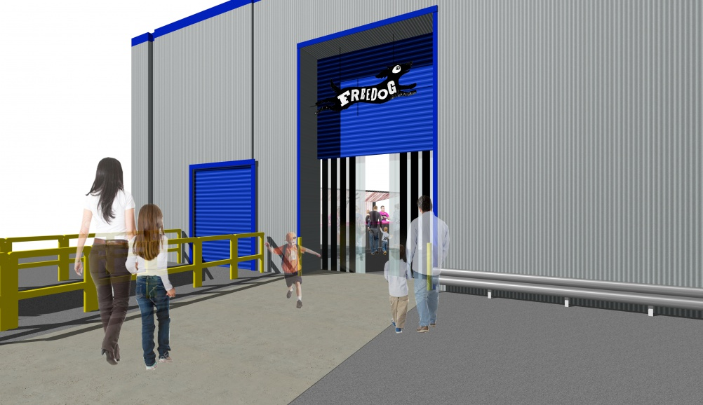 Visualisation of the entrance area