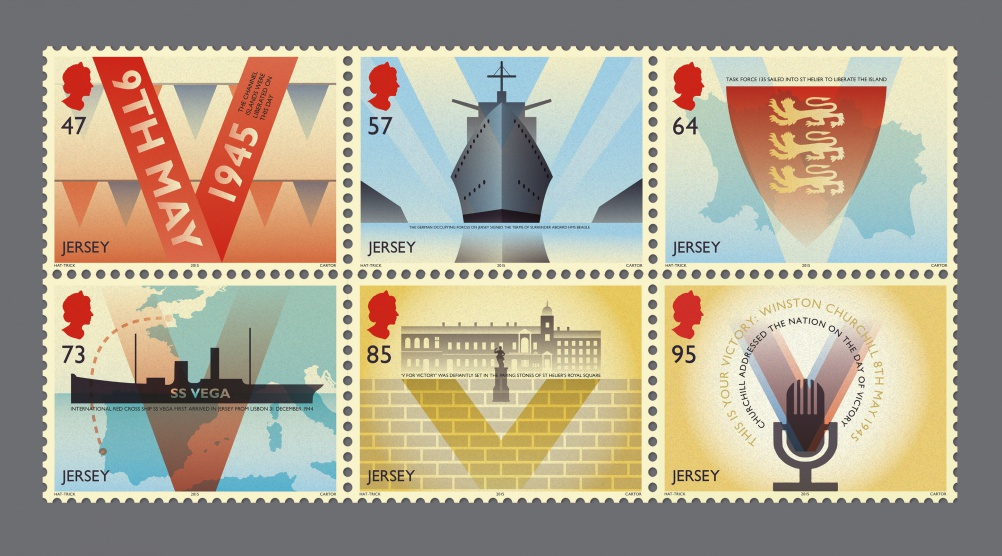 Victory & liberation stamps