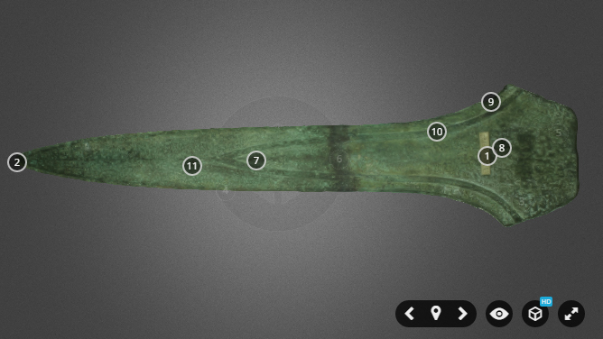 3D scanning a Bronze Age dirk