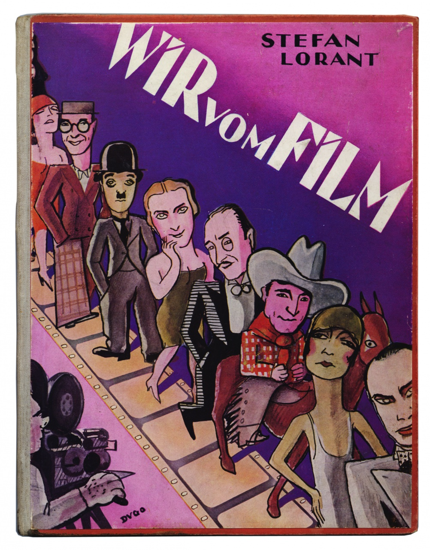 Stefan Lorant. Wir vom Film. Berlin: Theater und Film Verlagsgesellschaft (1928). Cover drawing by Dugo (András Szenes).