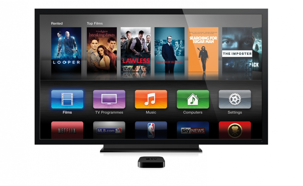 The current Apple TV design