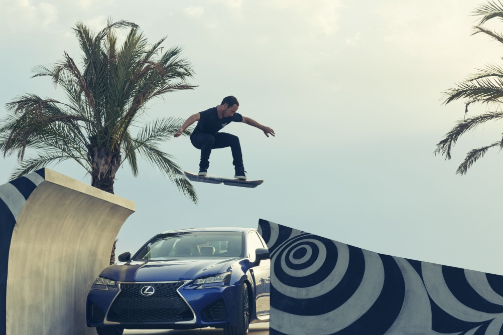 Lexus Hoverboard_GS F Jump