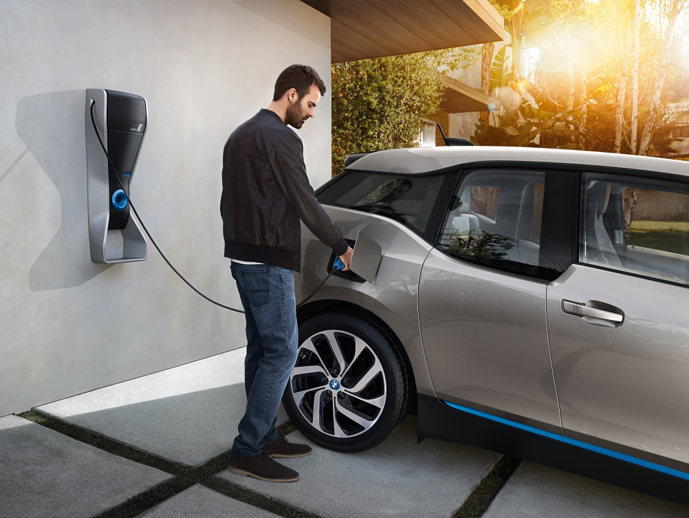 The BMW i home charging point