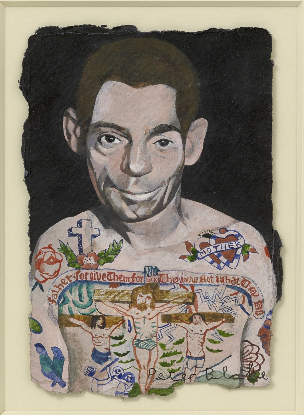 Peter Blake, Tattooed Man 2, 2015, watercolour