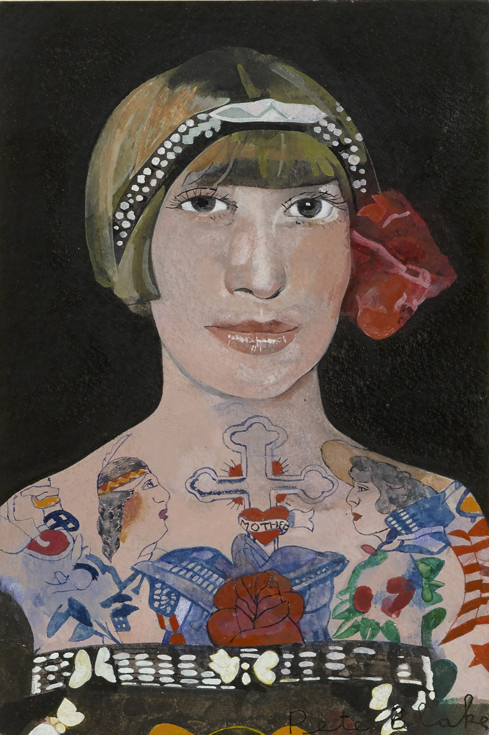 Peter Blake, Tattooed Woman 2, 2015, watercolour