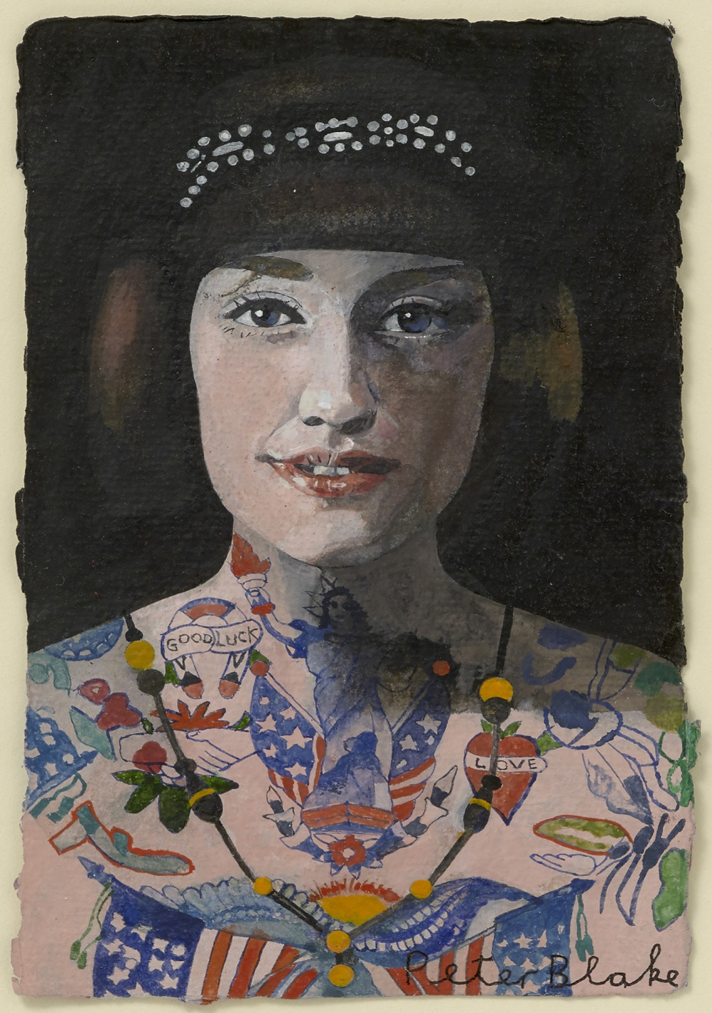 Peter Blake, Tattooed Woman 5, 2015, watercolour