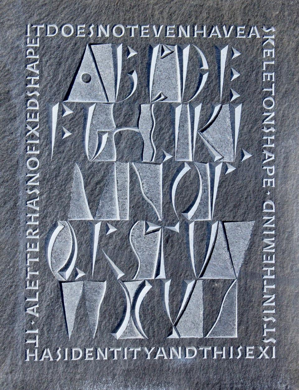 Annet Stirling - Alphabet carving