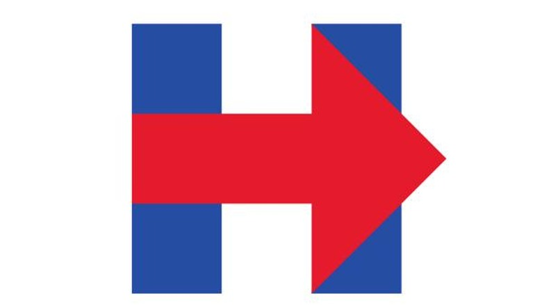 Hillary Clinton's logo, designed by Michael Bierut