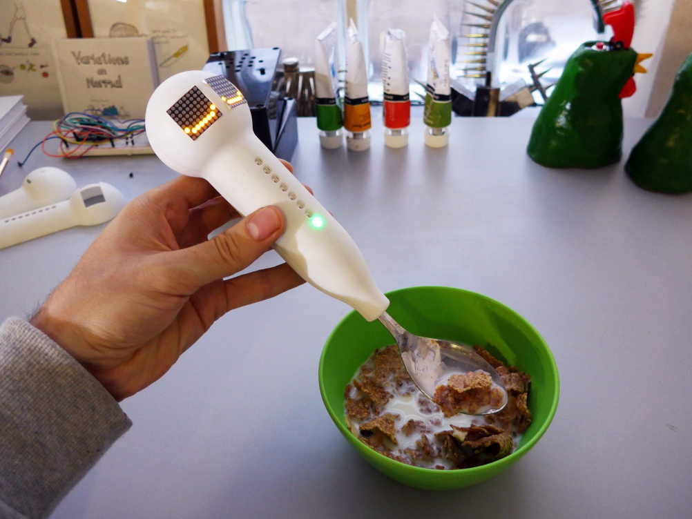 Get Enough Spoon – an illuminating smart spoon that measures the amount of cereal you've eaten
