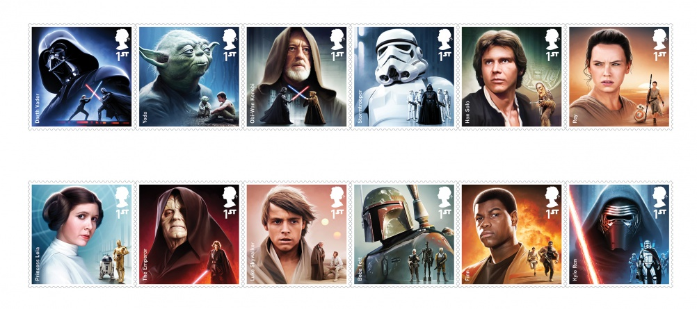 Star Wars stamps, by Interabang and Malcolm Tween