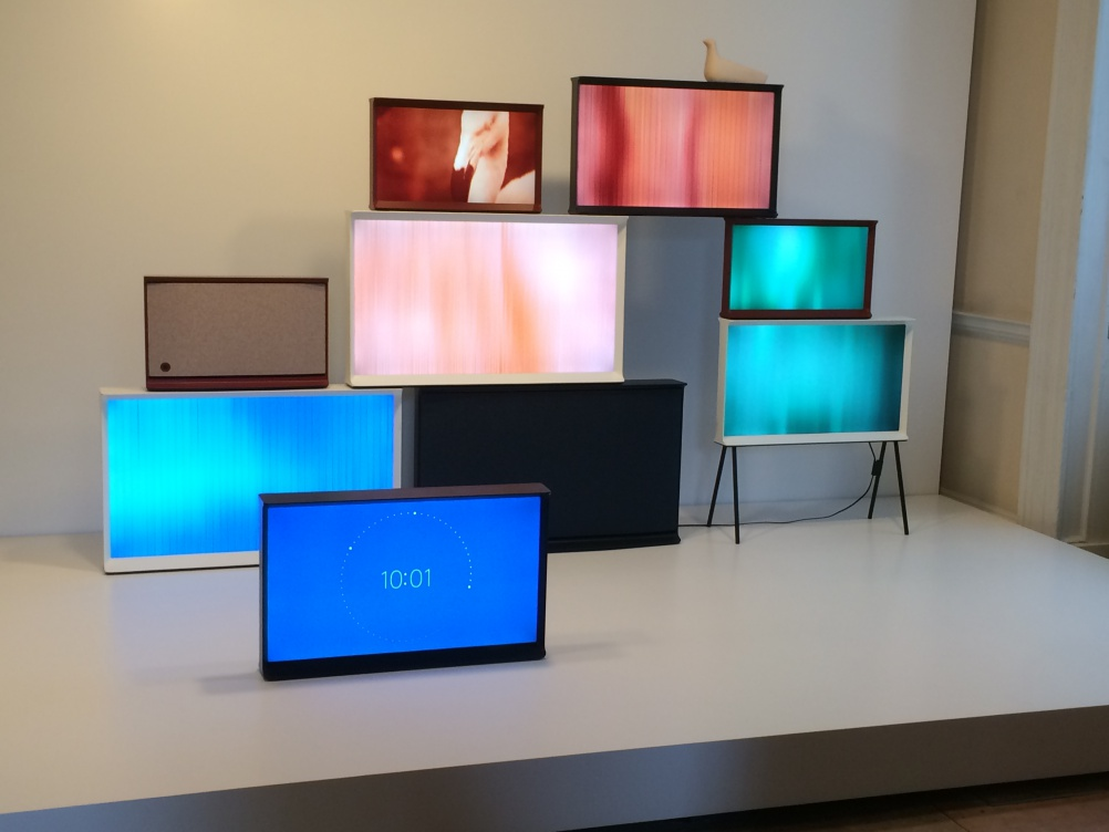 Samsung's new Serif TV, designed by Ronan and Erwan Bouroullec