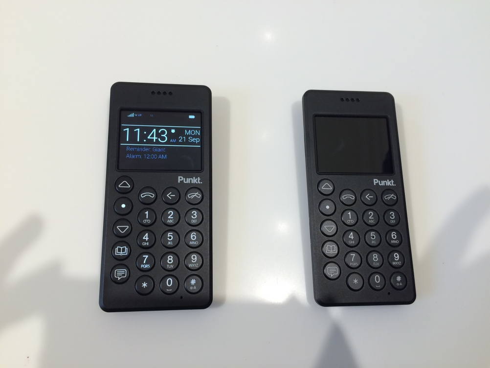 Punkt's MP 01 mobile phone, designed by Jasper Morrison
