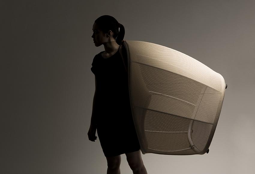 Membrane 3D woven textile chair