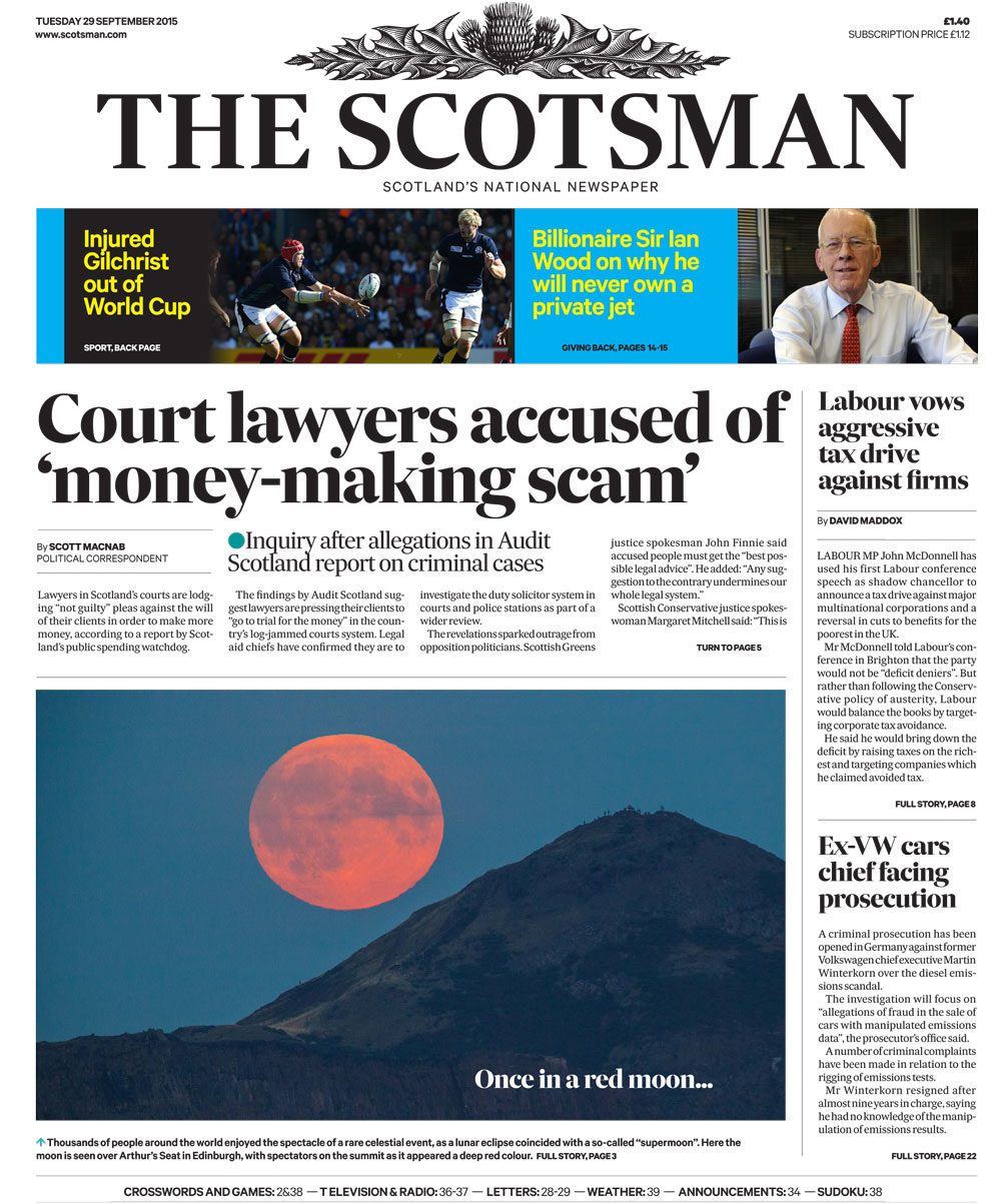 The Scotsman - redesigned