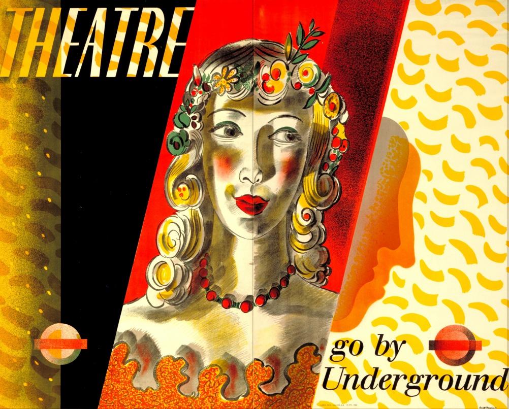 Theatre - go by Undeground, by Barnett Freedman