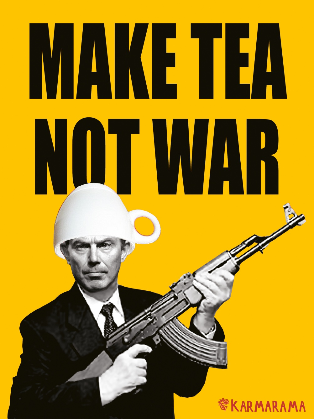 Make Tea Not War, poster by ad agency Karmarama, UK 2003