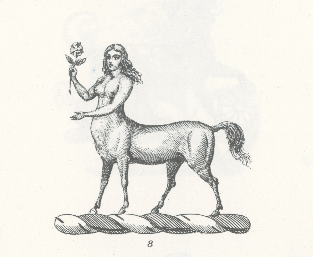 Kentauride symbol, from a Dover illustration book
