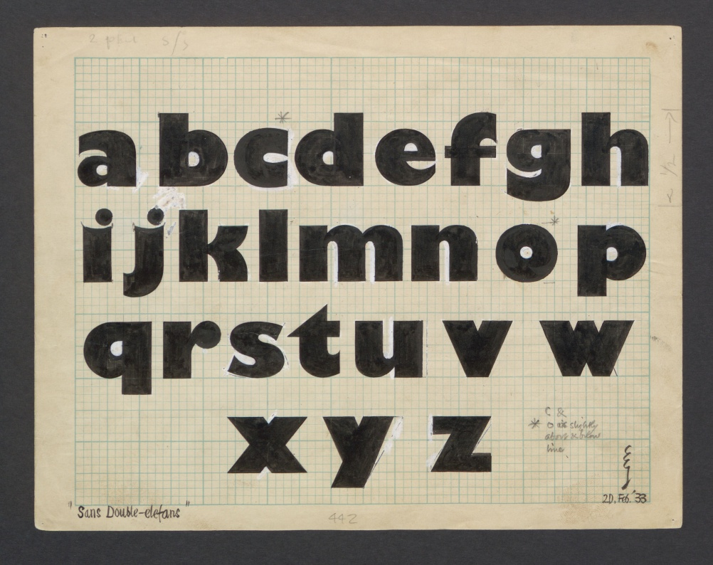 Gill added lowercase letters to Gill Kayo in February 1933