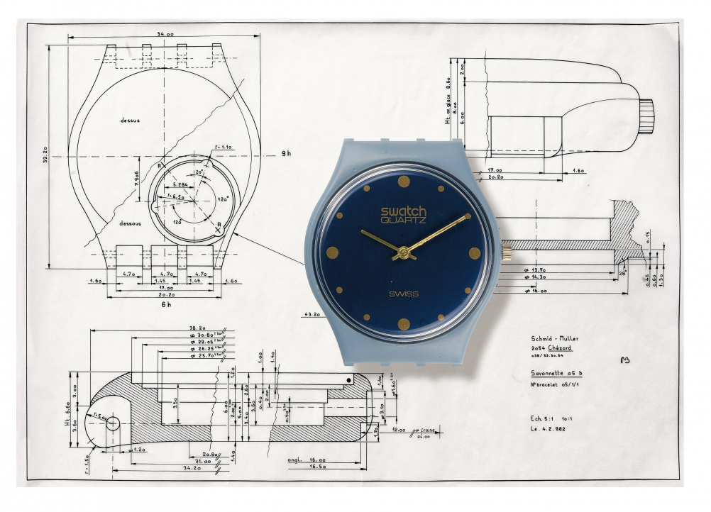 Designs for Swatch's Savonette model
