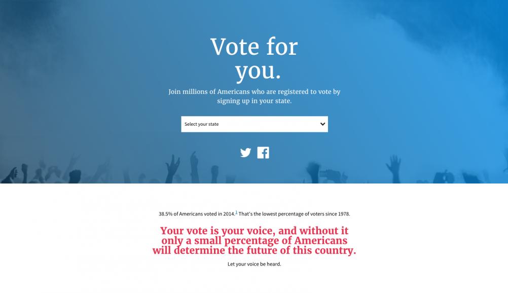The vote.usa.gov website – built using the design principles