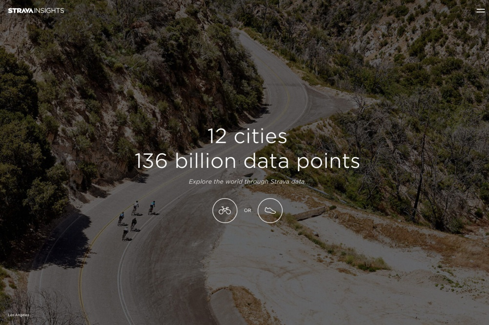 The Strava Insights platform, built with Stink Digital