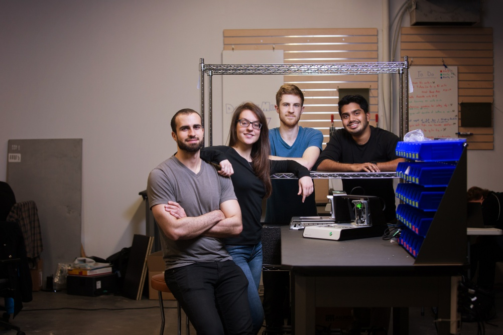Jesús Zozaya (25), Alroy Ameida (25) and James Pickard (24) are all Mechatronics Engineering graduates. Katarina Ilic (24) is a graduate of Nanotechnology Engineering.