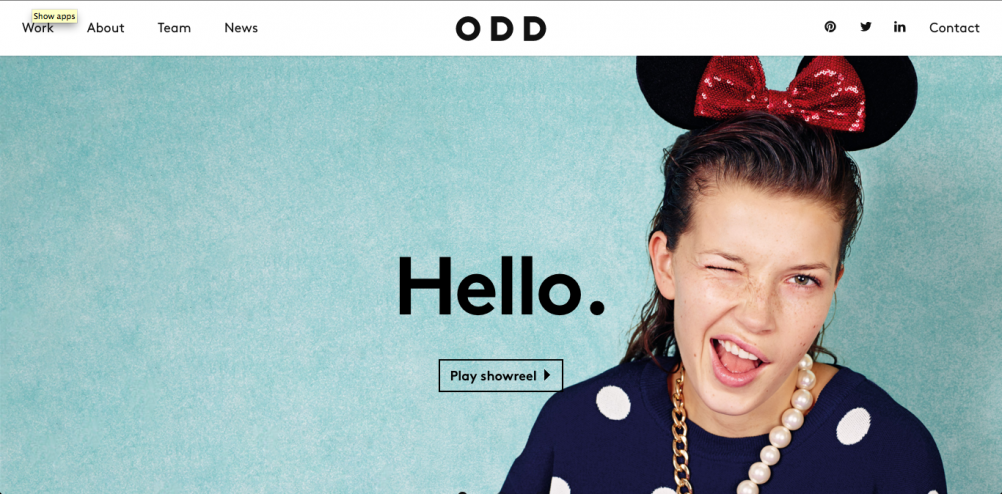 "ODD's website – ""beautiful, clean and definitely appealing"""