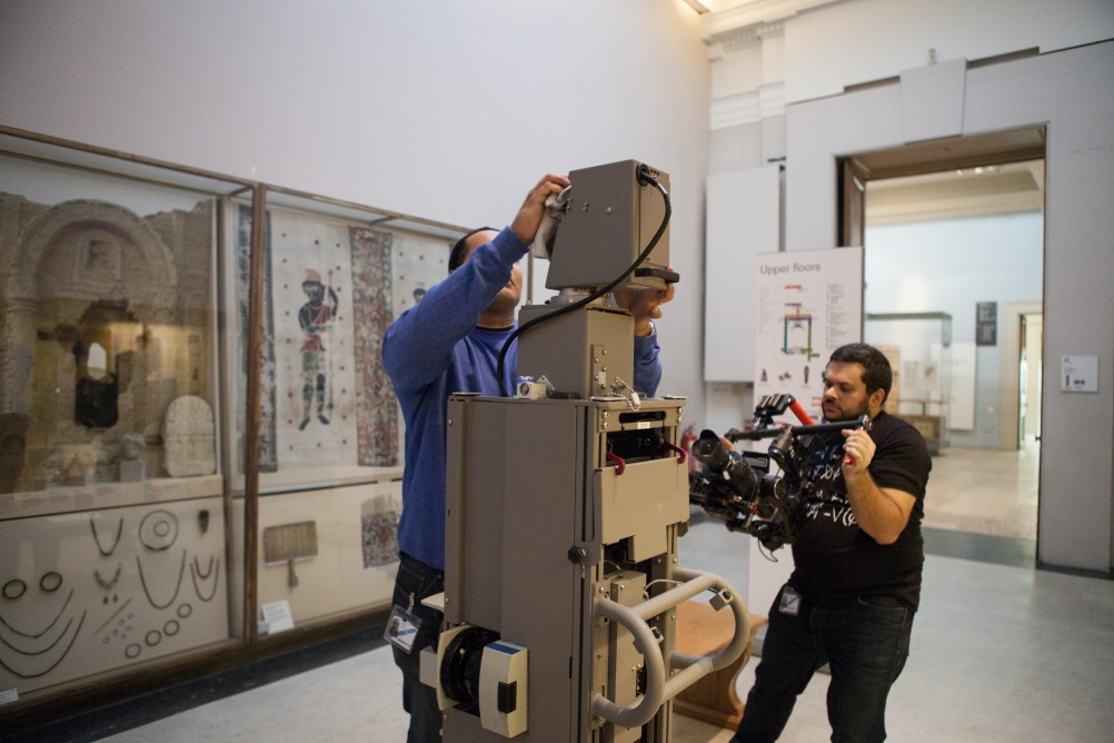Shooting the museum for Google Street View