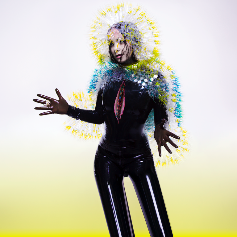 Bjork - Vulnicura. Cover character by Bjork, headpiece and cape by Maiko Takeda, photography by Inez and Vinoodh