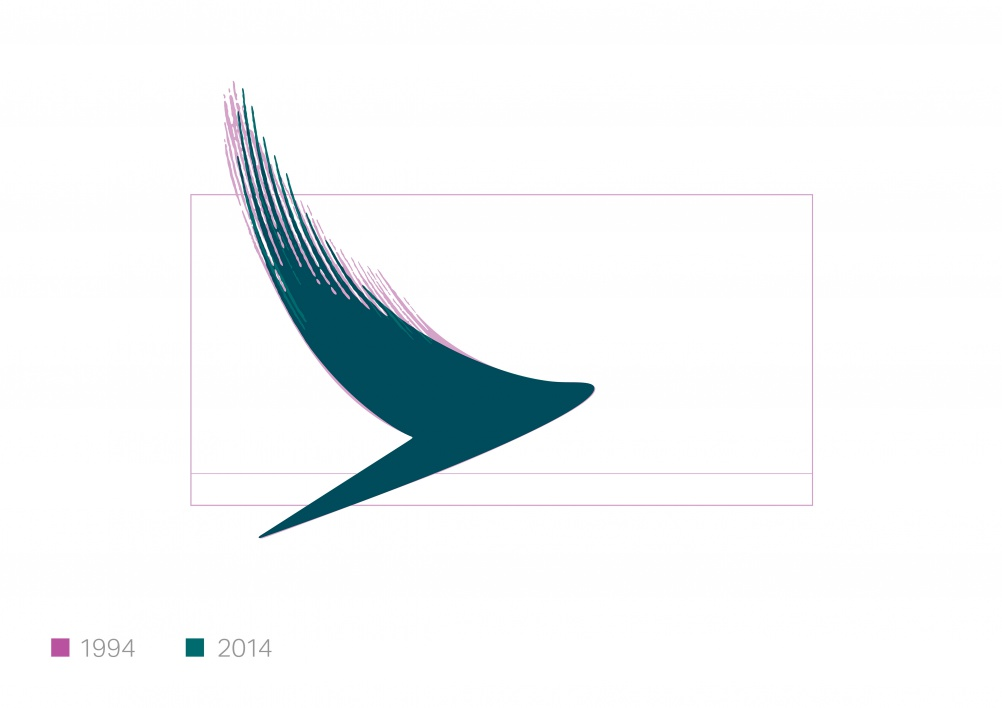 The new Cathay Pacific brushwing logo