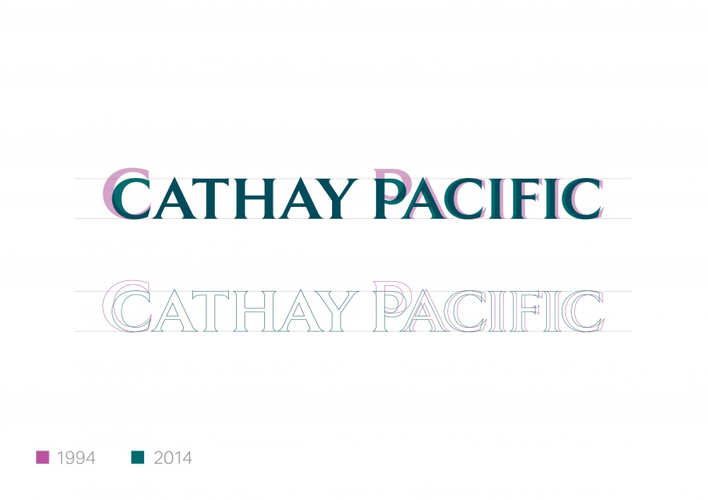 New Cathay Pacific wordmark