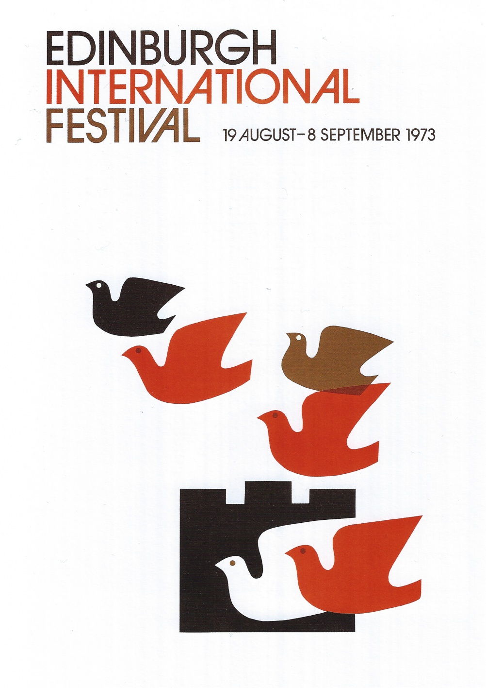 Edinburgh International Festival publicity material (1976-78) Designed by Hans and Pat Schleger (Hans Schleger Associates)