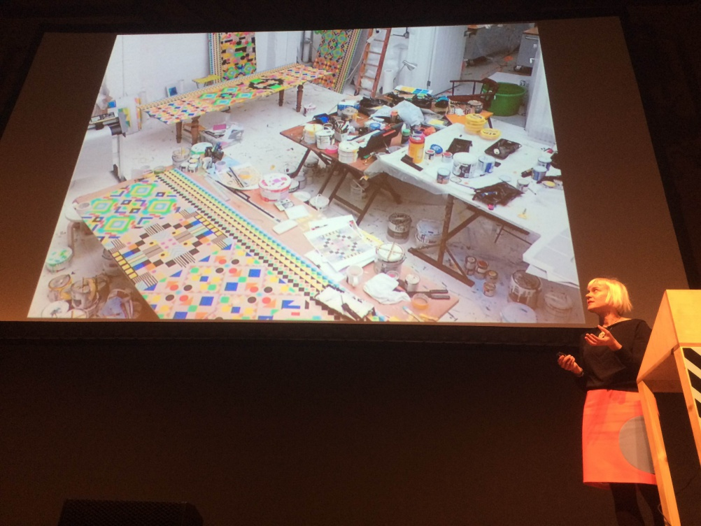 Morag Myerscough presenting her work at Offset London 2015