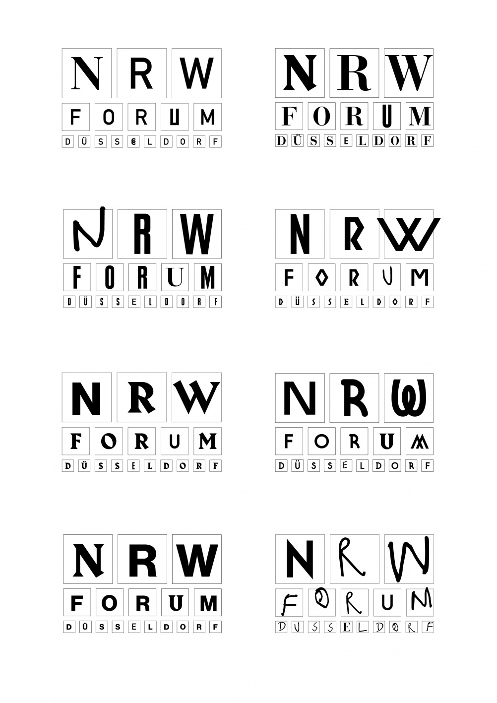 NRW-Forum Logos